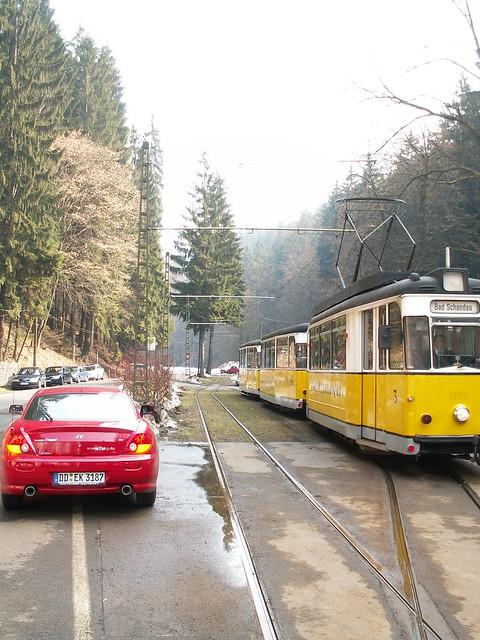 Durch das Kirnitzschtal mit der Kirnitzschtalbahn vom Stadtpark Bad Schandauer zum Lichtenhainer Wasserfall 155