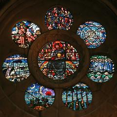 Rose window, Waltham Abbey church