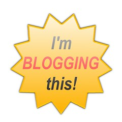 I'm BLOGGING this! - MOO Sticker Design
