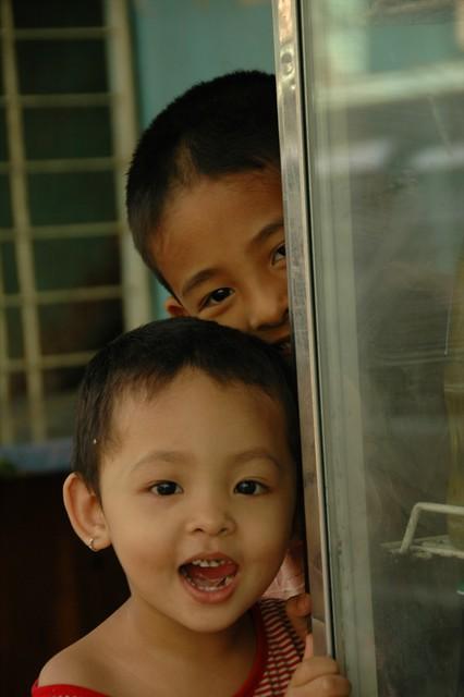 Excited Burmese Kids - Yangon, Myanmar