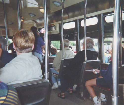 Interior view of a Kenosha Wisconsin ex Toronto transit Commision streetcar. by Eddie from Chicago