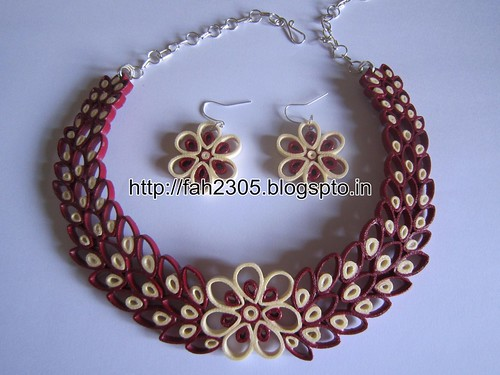 Free Form Quilling - Paper Quilling Jewelry Set (FAH01-226) by fah2305