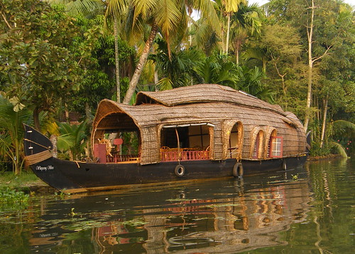 Indian Kerala Backwaters Kettuvallam (Rice Boat)