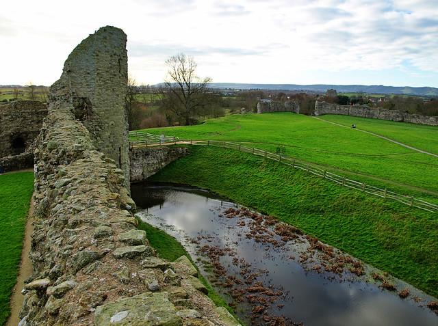 Pevensey Castle - Looking Down