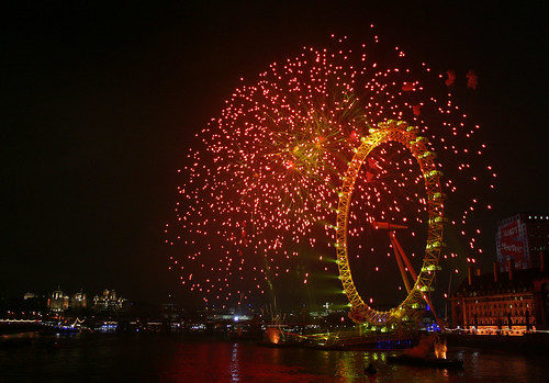 london eye: new year 2007/8