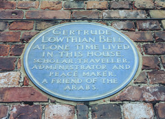Photo of Gertrude Bell blue plaque