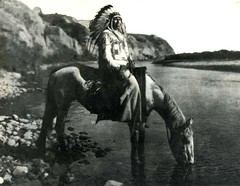 Blackfoot Chief at Bow River