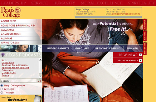 Regis College Home Page