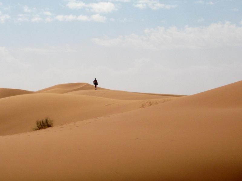marathon des sables. Solitude