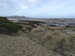 Carmel River Beach/looking out to sea/Point Lobos in the distance
