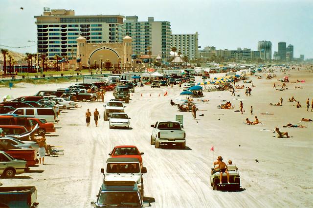 Traffic on Daytona Beach
