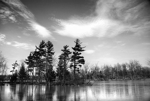 trees light sky bw reflection water clouds river landscape island spring nikon 1870mm d80
