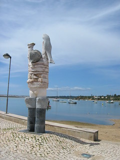 Fisherman Statue, Alvor Harbour, Algarve, Portugal