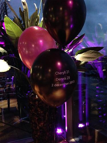 Tafeldecoratie 3ballonnen De Tuinen van de 4 Windstreken Rotterdam