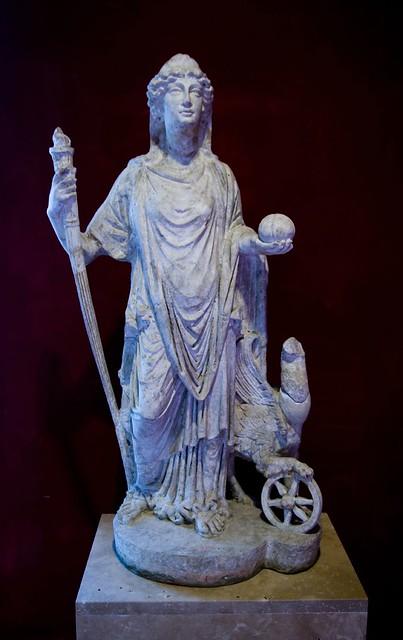 Statue Of Fortuna Nemesis Aquincum Museum Budapest
