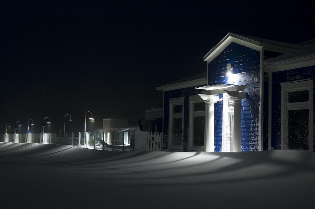 Winter Snow - Bay Harbor Pool House