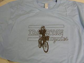 ira ryan cycles t-shirts