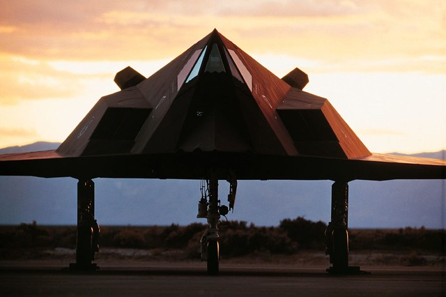 F-117 at Sunset