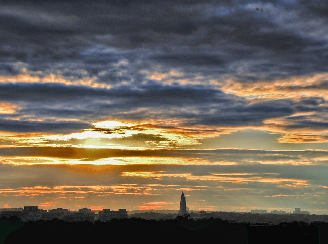 Washington Masonic Monument at sunset, Alexandria, Va