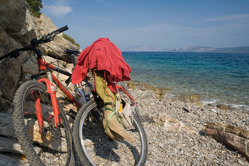 beach cycling rocks view stones cove wheels bikes clothes greece ermioni img8895 cliveandrews greece09week1