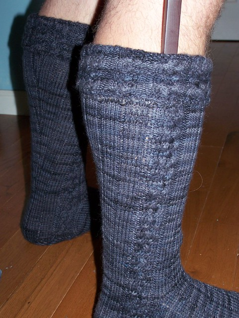 Hand Knit Cable Top Hose - Hose by License to Kilt LLC Pipe Band
