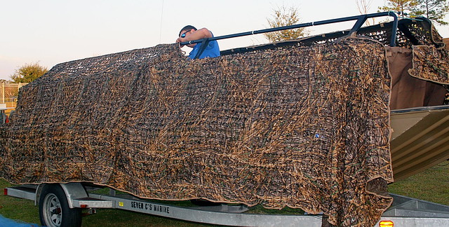 Mississippi Duck Hunting Avery Pop Up Blind Rigged With