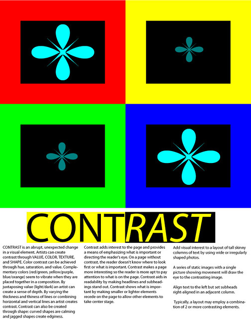 Contrast Design Principle