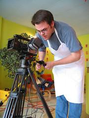 camera operator, person,