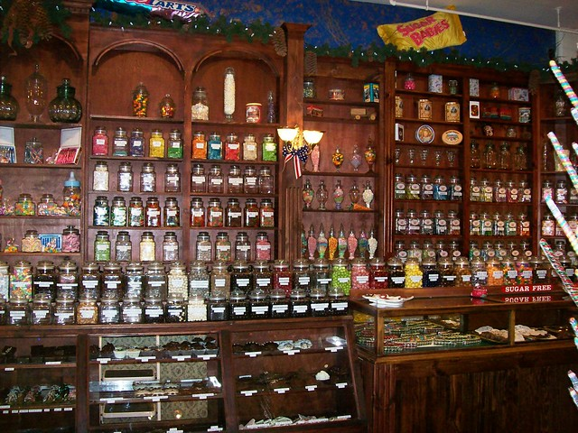 Fully stocked penny candy store in the logging town of for Old fashioned general store near me