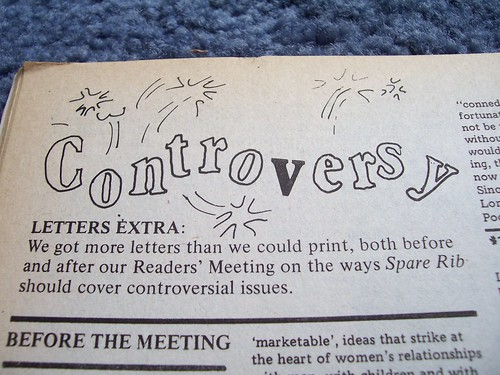 Letters page - Controversy