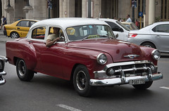 1953 Red & White Chevrolet Deluxe Taxi. Havana, Cuba