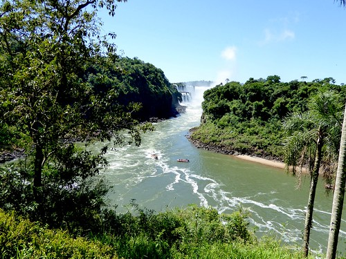 iguazu falls map