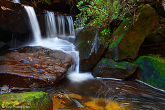 Small Waterfall in Ku-ring-gai Chase NP, Sydeny, Australia