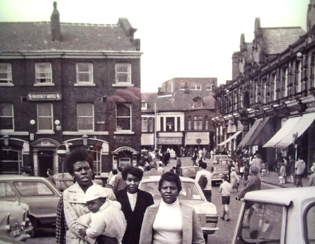 Oldham Market Hotel and Indoor Market Old Photograph
