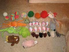 Toys under the fridge