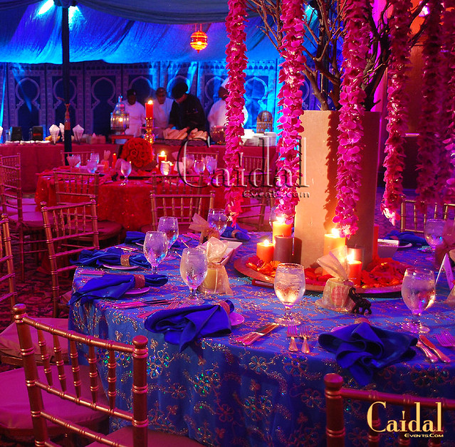 Bollywood Indian Theme Party At The Doral Resort Flowers