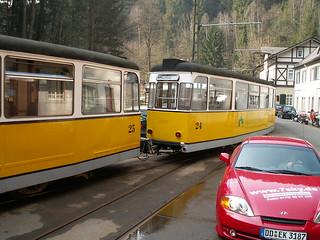 Kirnitzschtalbahn Rückfahrt von Endstation Lichtenhainer Wasserfall nach Bad Schandau