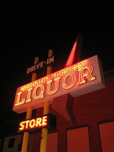 Awesome liquor store in Minneapolis, Minnesota.