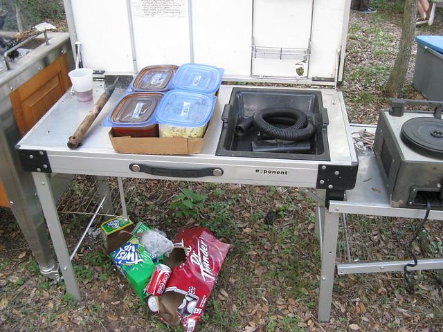 Camp Kitchen Sink Back Of Van