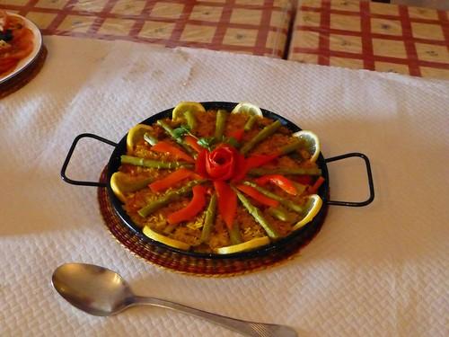 Cortijo Rosario: vegetarian paella