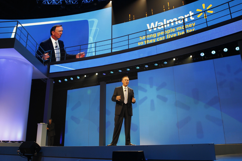 El presidente de Walmart en una reciente reunión de accionistas