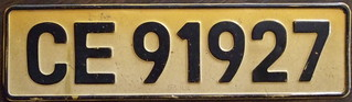 SOUTH AFRICA, CAPE PROVINCE, East London 1968 series passenger plate