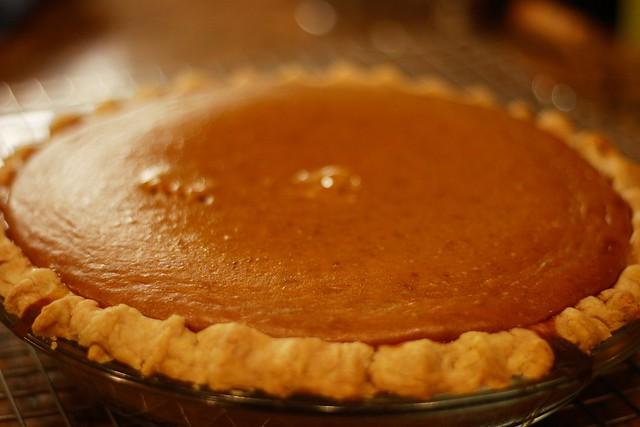 Pumpkin Pie from a *real* pumpkin