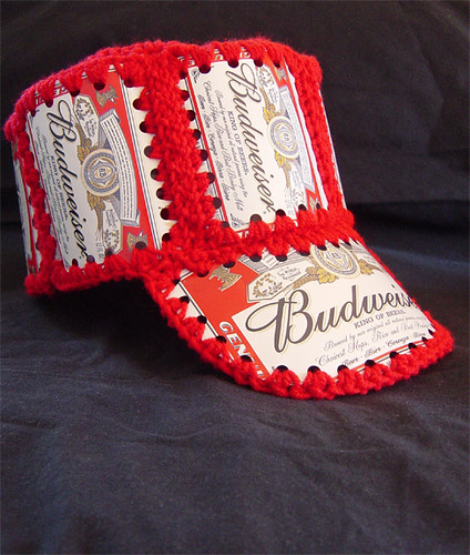 Funny Vintage Crocheted Beer Can Hats