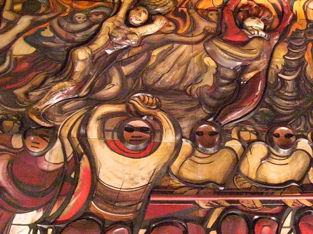 Trabajadores detalle del mural de david alfaro siqueiros for El mural de siqueiros