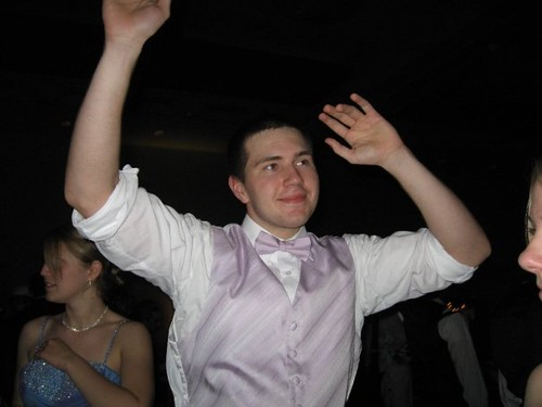 Calvin getting down at the Senior Prom