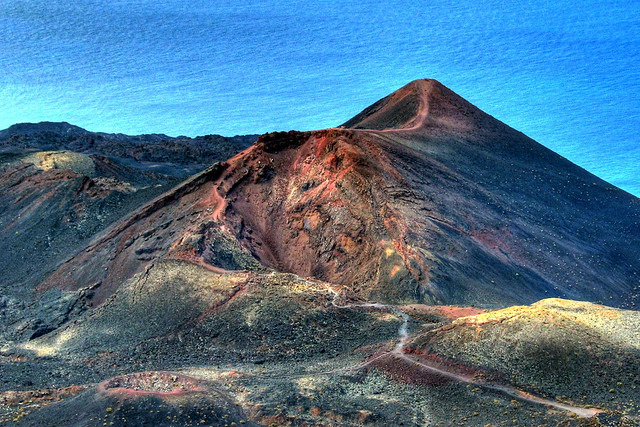 La Palma Teneguia volcano