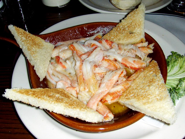Alaskan King Crab   with toast points. At Twin Oaks.   By ...