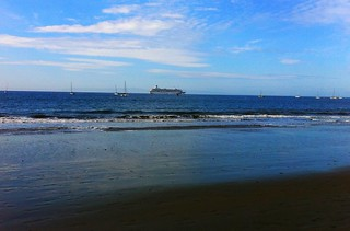 Cruise Ship off Santa Barbara