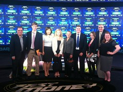 JSchool students on set of CNBC's